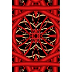 Fractal Wallpaper With Red Tangled Wires 5 5  X 8 5  Notebooks