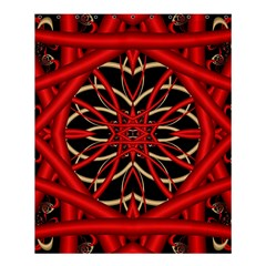 Fractal Wallpaper With Red Tangled Wires Shower Curtain 60  X 72  (medium)