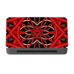 Fractal Wallpaper With Red Tangled Wires Memory Card Reader With Cf