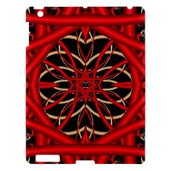 Fractal Wallpaper With Red Tangled Wires Apple Ipad 3/4 Hardshell Case