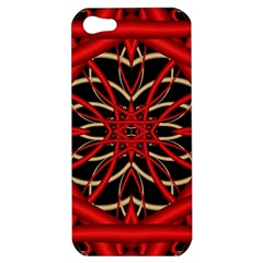 Fractal Wallpaper With Red Tangled Wires Apple iPhone 5 Hardshell Case