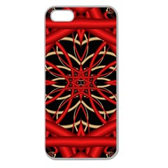 Fractal Wallpaper With Red Tangled Wires Apple Seamless Iphone 5 Case (clear)