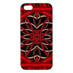 Fractal Wallpaper With Red Tangled Wires Apple Iphone 5 Premium Hardshell Case