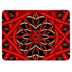 Fractal Wallpaper With Red Tangled Wires Samsung Galaxy Tab 7  P1000 Flip Case