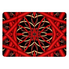 Fractal Wallpaper With Red Tangled Wires Samsung Galaxy Tab 8 9  P7300 Flip Case