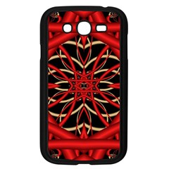 Fractal Wallpaper With Red Tangled Wires Samsung Galaxy Grand Duos I9082 Case (black)