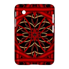 Fractal Wallpaper With Red Tangled Wires Samsung Galaxy Tab 2 (7 ) P3100 Hardshell Case