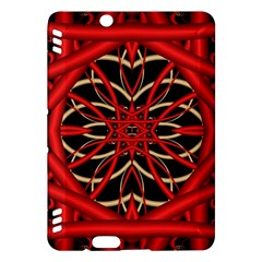 Fractal Wallpaper With Red Tangled Wires Kindle Fire HDX Hardshell Case