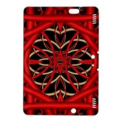 Fractal Wallpaper With Red Tangled Wires Kindle Fire Hdx 8 9  Hardshell Case