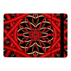 Fractal Wallpaper With Red Tangled Wires Samsung Galaxy Tab Pro 10.1  Flip Case