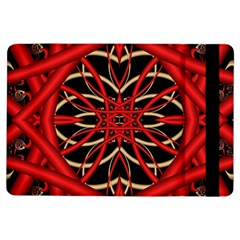 Fractal Wallpaper With Red Tangled Wires Ipad Air Flip