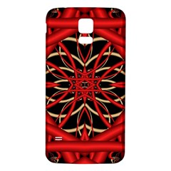 Fractal Wallpaper With Red Tangled Wires Samsung Galaxy S5 Back Case (white)