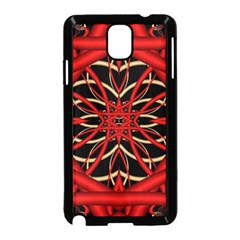 Fractal Wallpaper With Red Tangled Wires Samsung Galaxy Note 3 Neo Hardshell Case (Black)