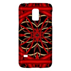 Fractal Wallpaper With Red Tangled Wires Galaxy S5 Mini