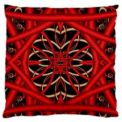 Fractal Wallpaper With Red Tangled Wires Standard Flano Cushion Case (one Side)