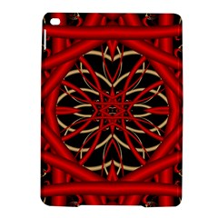 Fractal Wallpaper With Red Tangled Wires Ipad Air 2 Hardshell Cases