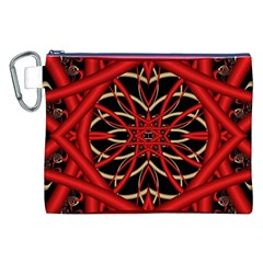 Fractal Wallpaper With Red Tangled Wires Canvas Cosmetic Bag (xxl)