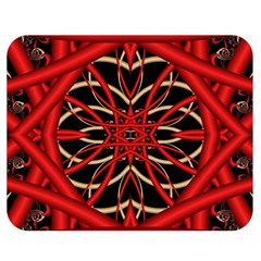 Fractal Wallpaper With Red Tangled Wires Double Sided Flano Blanket (medium)