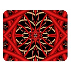 Fractal Wallpaper With Red Tangled Wires Double Sided Flano Blanket (large)