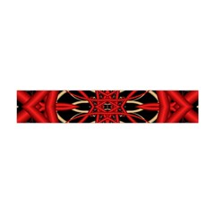 Fractal Wallpaper With Red Tangled Wires Flano Scarf (Mini)