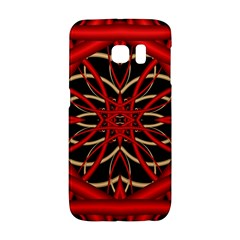 Fractal Wallpaper With Red Tangled Wires Galaxy S6 Edge