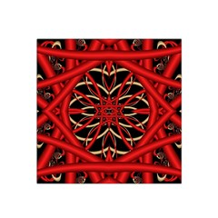 Fractal Wallpaper With Red Tangled Wires Satin Bandana Scarf