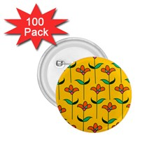 Small Flowers Pattern Floral Seamless Pattern Vector 1.75  Buttons (100 pack)