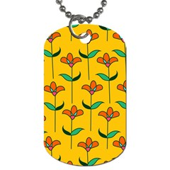 Small Flowers Pattern Floral Seamless Pattern Vector Dog Tag (Two Sides)