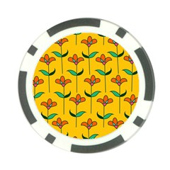 Small Flowers Pattern Floral Seamless Pattern Vector Poker Chip Card Guard