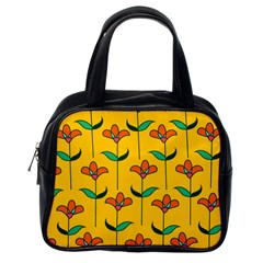Small Flowers Pattern Floral Seamless Pattern Vector Classic Handbags (one Side)