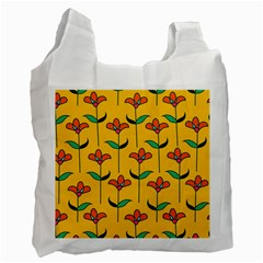 Small Flowers Pattern Floral Seamless Pattern Vector Recycle Bag (one Side)