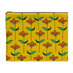Small Flowers Pattern Floral Seamless Pattern Vector Cosmetic Bag (xl)