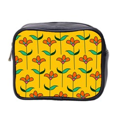 Small Flowers Pattern Floral Seamless Pattern Vector Mini Toiletries Bag 2 Side