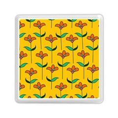 Small Flowers Pattern Floral Seamless Pattern Vector Memory Card Reader (square)