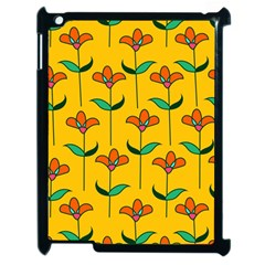 Small Flowers Pattern Floral Seamless Pattern Vector Apple Ipad 2 Case (black)