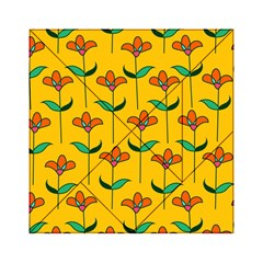 Small Flowers Pattern Floral Seamless Pattern Vector Acrylic Tangram Puzzle (6  x 6 )