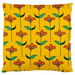 Small Flowers Pattern Floral Seamless Pattern Vector Large Cushion Case (one Side)