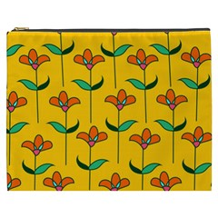 Small Flowers Pattern Floral Seamless Pattern Vector Cosmetic Bag (XXXL)