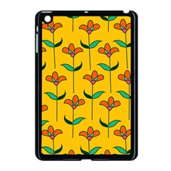 Small Flowers Pattern Floral Seamless Pattern Vector Apple iPad Mini Case (Black)