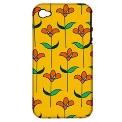 Small Flowers Pattern Floral Seamless Pattern Vector Apple Iphone 4/4s Hardshell Case (pc+silicone)