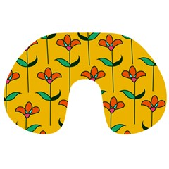 Small Flowers Pattern Floral Seamless Pattern Vector Travel Neck Pillows