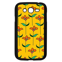 Small Flowers Pattern Floral Seamless Pattern Vector Samsung Galaxy Grand Duos I9082 Case (black)