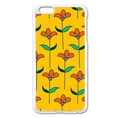 Small Flowers Pattern Floral Seamless Pattern Vector Apple Iphone 6 Plus/6s Plus Enamel White Case
