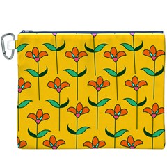 Small Flowers Pattern Floral Seamless Pattern Vector Canvas Cosmetic Bag (xxxl)