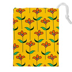 Small Flowers Pattern Floral Seamless Pattern Vector Drawstring Pouches (xxl)