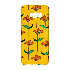 Small Flowers Pattern Floral Seamless Pattern Vector Samsung Galaxy S8 Hardshell Case