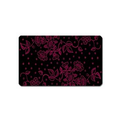 Pink Floral Pattern Background Wallpaper Magnet (name Card)