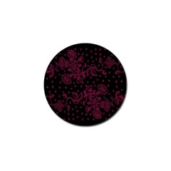 Pink Floral Pattern Background Wallpaper Golf Ball Marker (10 Pack)