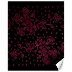 Pink Floral Pattern Background Wallpaper Canvas 11  x 14