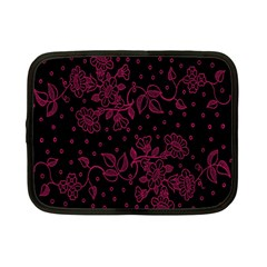Pink Floral Pattern Background Wallpaper Netbook Case (small)